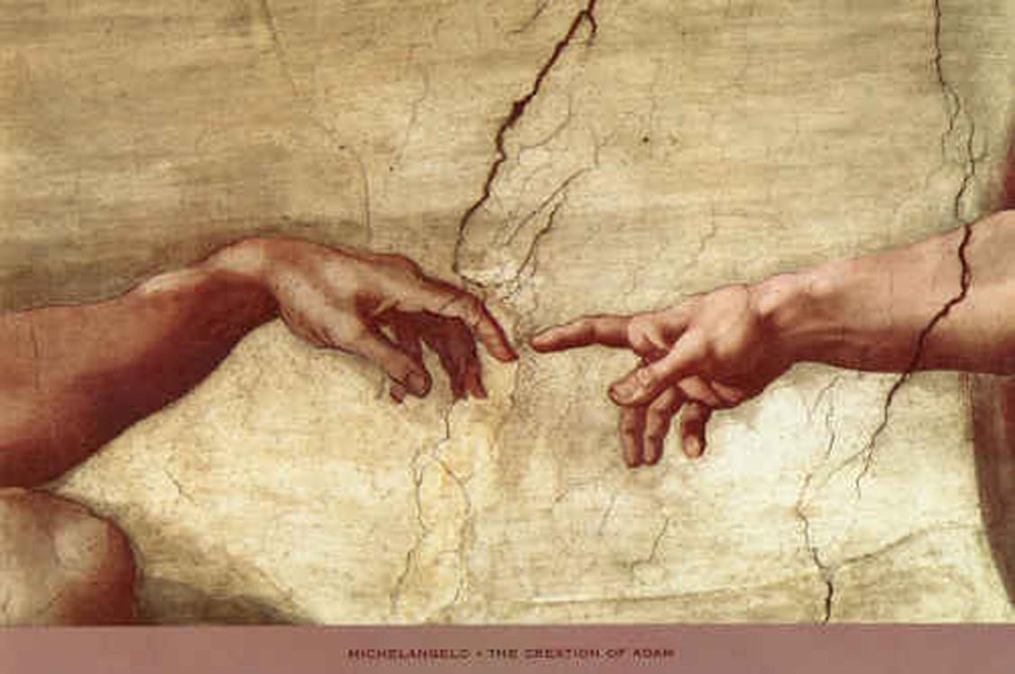 Religion and western culture for Creation of adam mural